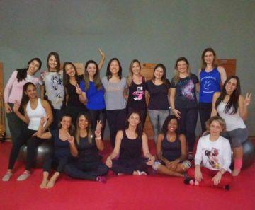Instrutores de Pilates participantes dos workshops do Espaço Fluir