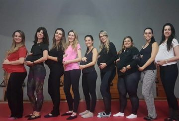 As alunas do wks Pilates na Gestação da Umana Pilates